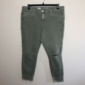 Mossimo Supply Co. Jeans - Mossimo jegging jean 16 distressed army green